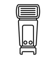 camera flashlight icon outline style vector image vector image