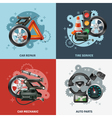 Car Service Concept Icons Set vector image vector image