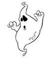 cartoon ghost outline halloween vector image