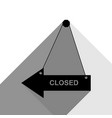 closed sign black icon with vector image vector image