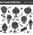 Collection of hand drawn ice cream treats vector image vector image