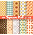 Different square seamless patterns tiling vector image vector image