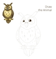Draw the forest animal bird owl cartoon vector image vector image