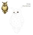 Draw the forest animal bird owl cartoon vector image vector image