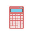electronic calculator icon in flat design vector image vector image