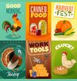 farm cards set vector image vector image