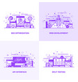 flat line purple designed concepts 13 vector image