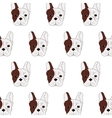 french bulldog pattern icon vector image