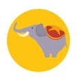 funny elephant circus icon vector image vector image