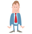 funny manager or businessman character vector image vector image