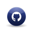 Github icon simple style vector image vector image