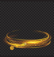 golden glowing fire rings with glitters vector image vector image