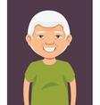 grandpa avatar character icon vector image