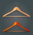 graphic realistic wooden coat hanger vector image