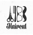 Haircut logo vector image