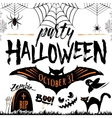 halloween party celebration vector image