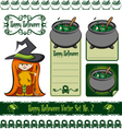 halloween witch set vector image vector image