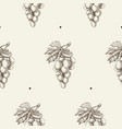 hand drawn berry seamless pattern vector image