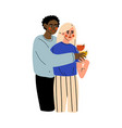happy couple celebrating an important event young vector image vector image