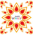 happy diwali festival floral decoration ethnicity vector image vector image