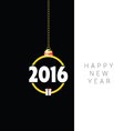 happy new year with gift box vector image vector image