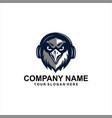 hawk music logo vector image vector image