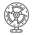 home air fan icon outline style vector image vector image