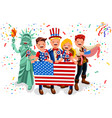 independence day usa background vector image vector image