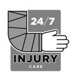 injury care emergency medical service centre grey vector image vector image