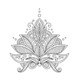 Intricate delicate floral design motif vector image vector image