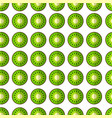 kiwi in a cut pattern vector image
