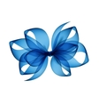 Light Blue Transparent Bow Top View Isolated vector image vector image