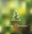 Light Christmas background with snowflakes and spr