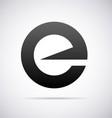 Logo for letter E vector image vector image