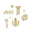 magical boho clipart greek antique logo or labels vector image