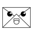 mail envelope kawaii character vector image vector image
