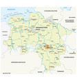 map state lower saxony germany vector image vector image