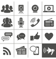 Media Social Network Icons vector image