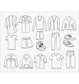 MInimalistic Men clothes and shoes vector image vector image