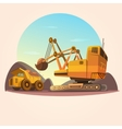 Mining concept vector image vector image