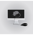 Mouse and monitor vector image