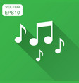 music note icon in flat style sound media with vector image vector image