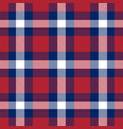patriotic tartan white blue red seamless vector image
