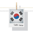 photo of south korea flag on white background vector image