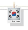 photo south korea flag on white background vector image