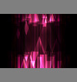 pink crystal line dark abstract background vector image vector image
