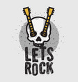 rock design with human skull bones and a vector image