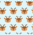 seamless childish pattern with cute deer creative vector image