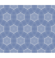 Seamless decorative blue wallpaper vector image vector image