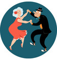 senior citizens dancing latin vector image vector image